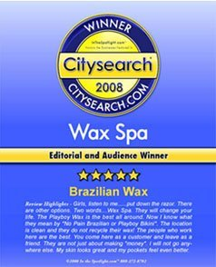 Wax Spa: Citysearch 2008 Winner award