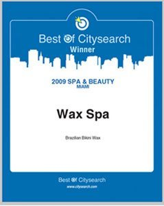 Wax Spa: Best of Citysearch 2009 winner award