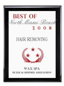 Wax Spa: Best of North Miami beach 2008 award